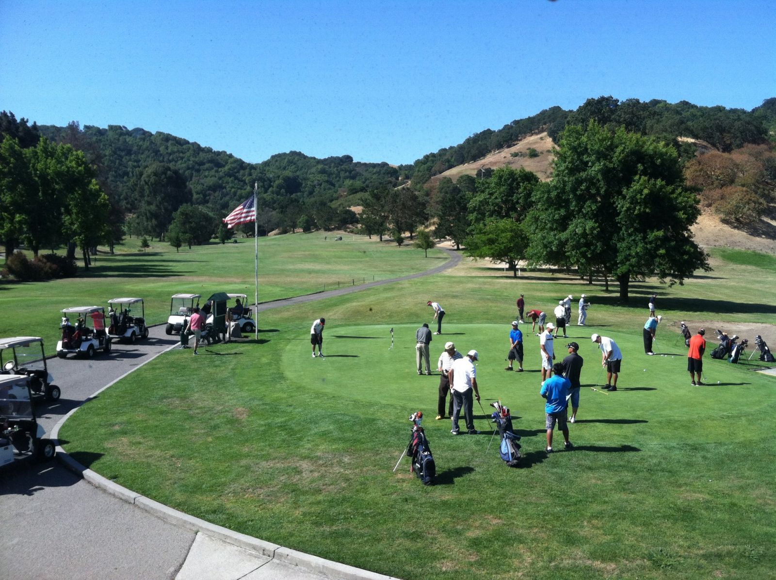 Golf facilities at Franklin Canyon Golf Course