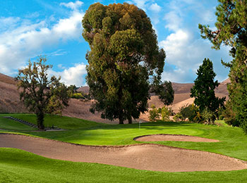 A couple picturesque bunkers at Franklin Canyon Golf Course